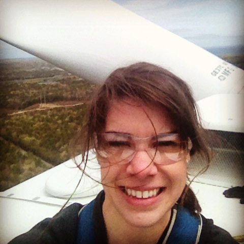 Sitting 264 feet up in the air on top of the turbine! I was pretty terrified